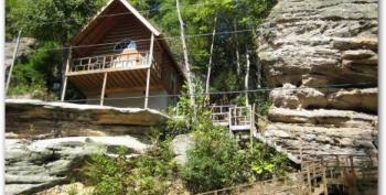 Romance on the Rocks in Red River Gorge River Cliffs