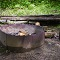 secluded fire pit