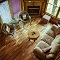 living room with a country atmosphere