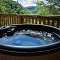 enjoy the view while soaking in the hot tub
