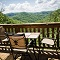 breathtaking view of the red river gorge from deck