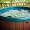 jetted hot tub on covered deck
