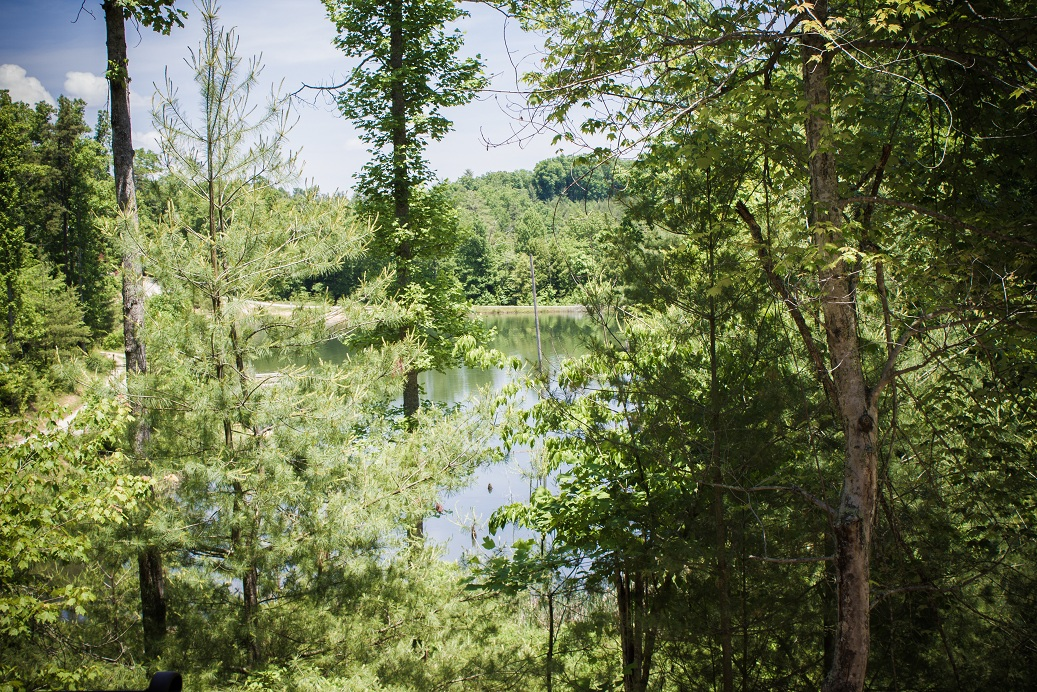 beautiful lake located close to cabin