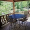 covered deck with an excellent view of the red river gorge