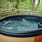 hot tub and mossy trees