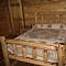 handmade full log bed