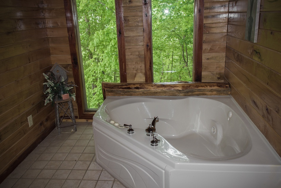 large jetted tub with gorgeous view
