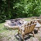 get toasty by a fire pit close to natural bridge state park