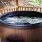 relaxing jetted hot tub