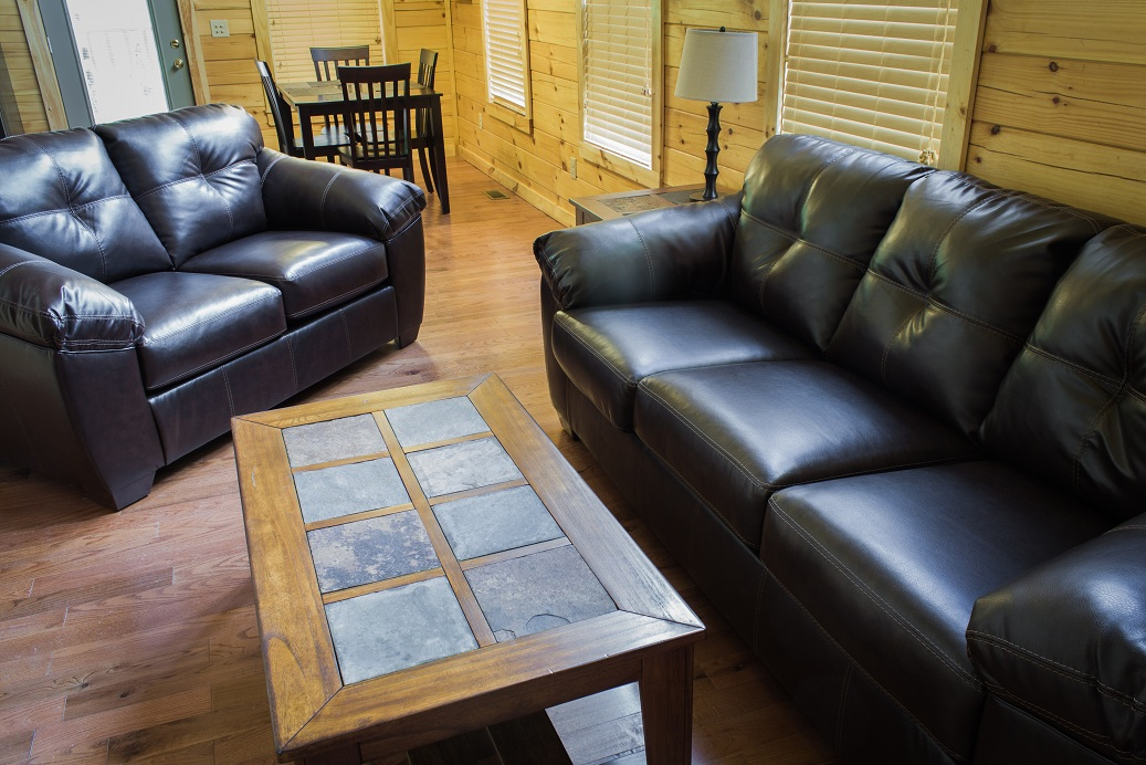 leather couch and sofa with tile coffee table