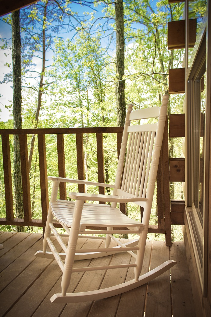 relax on the porch in a comfy rocking chair