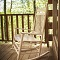 relaxing rocking chair on cabin deck