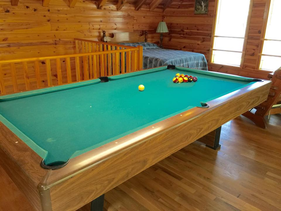 wind down after hiking with a game of pool