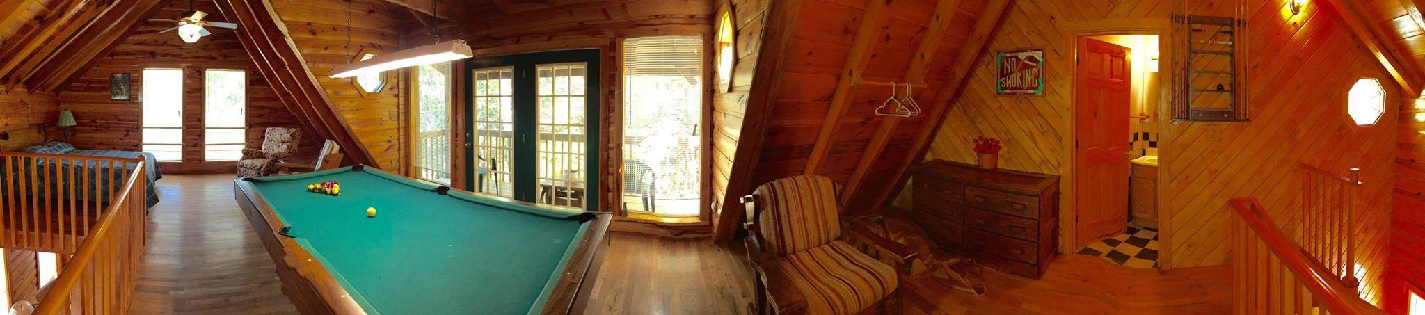 panoramic view of cabin upstairs